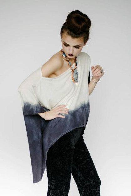 Ombre épaule chemise Ombre haute basse Shirt par DameandMaiden