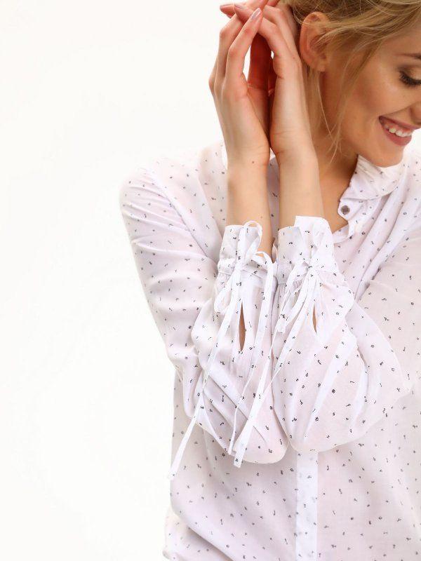 W2017 koszula damska biała  - koszula długi rękaw - TOP SECRET. SKL2225 Świetna jakość, rewelacyjna cena, modny krój. Idealnie podkreśli atuty Twojej figury. Obejrzyj też inne koszule tej marki.