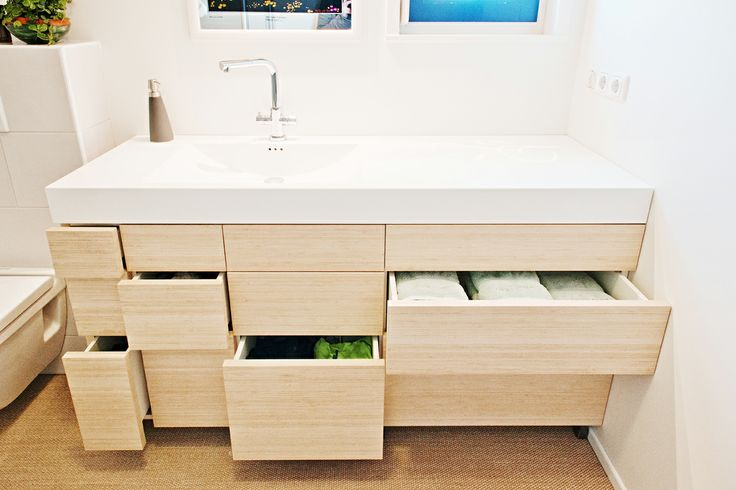 Different size drawers for different size items.  Photo: Caren Huygelen