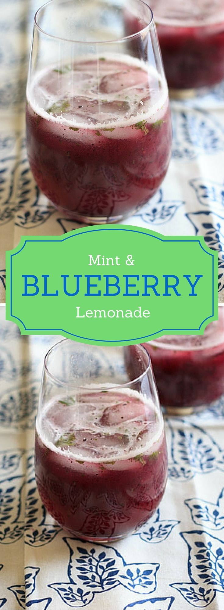 Blueberry mint lemonade - refreshing summer drink with fresh squeezed lemons, added flavor of blueberries, and extra kick of mint!