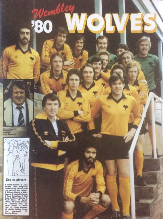 Wolves team group in 1980.