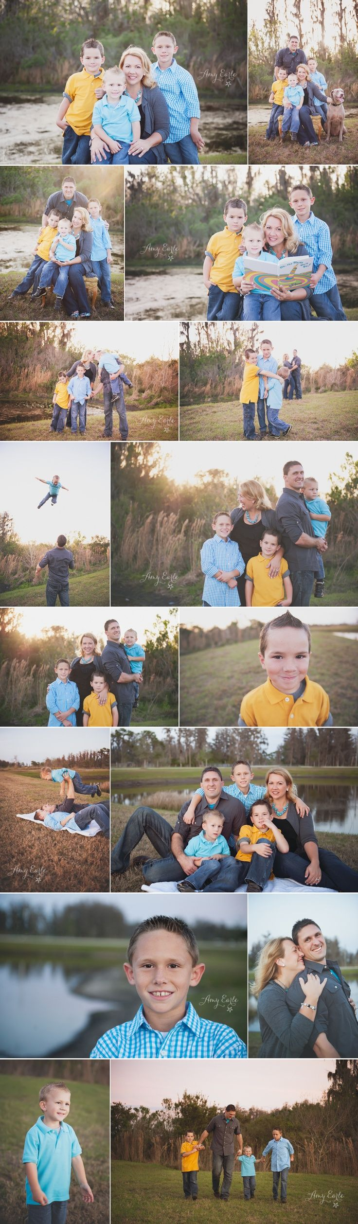family photography poses for one day. Especially since all the children are boys...probably going to be my life lol