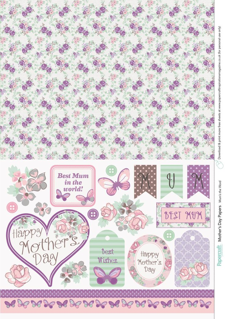 Mother's Day free printable papers