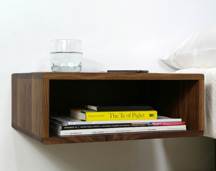 Could definitely make one of these floating sidetables for ...