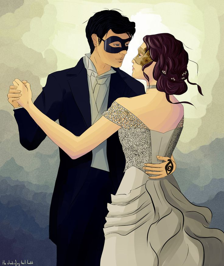 Wow, this is almost how I imagined it would look! Will Herondale and Tessa Gray at the party- The Infernal Devices