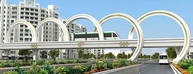 Ashgabat monorail (Turkmenistan).