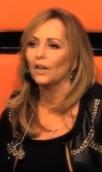 zwart jasje met studs Angela Groothuizen, The Voice Kids - #1