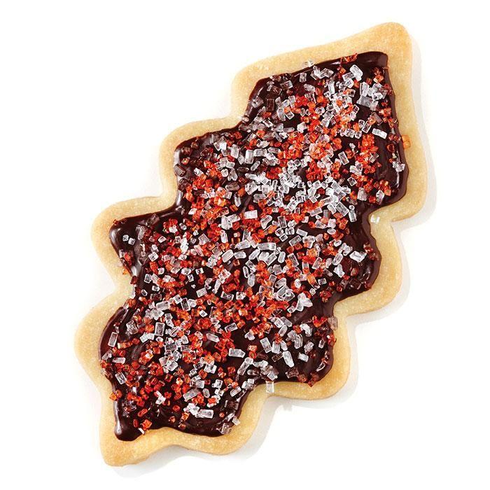 Feuille de gui glacée au #chocolat #biscuits #noel #cdpfetes