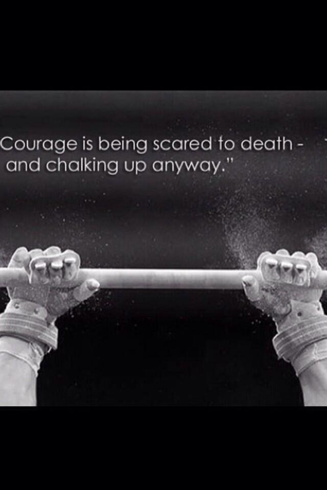 Performing takes bravery