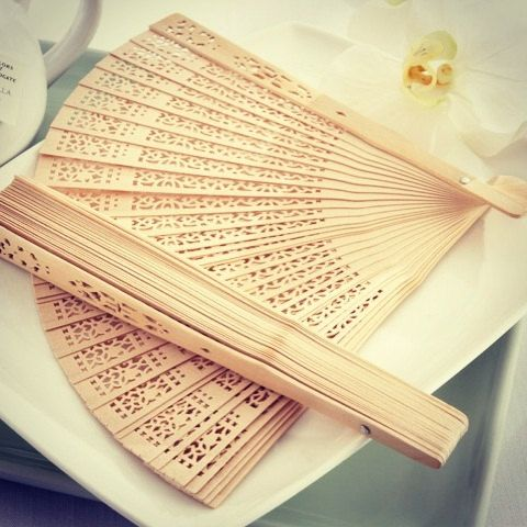 25 Sandalwood Wooden Hand Fans for weddings, parties, outdoor events, DIY place cards