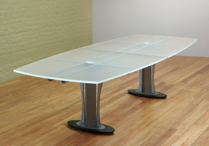 Boat Shape Conference Table Glass Boardroom Boardroom Table
