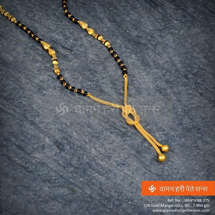 #Traditionally #beautifully #crafted #gold #designer #mangalsutra from our collection.