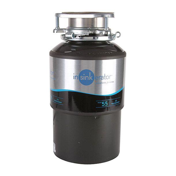 Triturador de desperdicios de comida. Mantiene la cocina sin malos olores. Motor de inducción de tipo pesado Dura Drive de .55 H.P. Garantía completa por 3 años. Sistema de trituración silencioso
