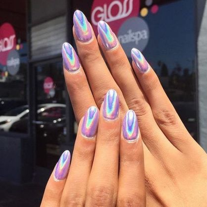 Glamour Chrome Nails Trends 2017 74