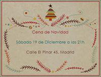 elige esta tarjeta de navidad moderna arbol color