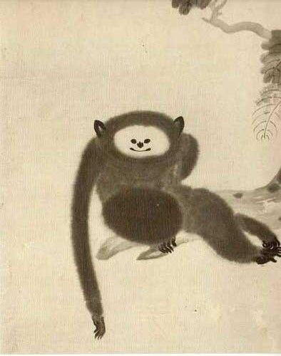 猿猴図 狩野山雪 http://kazuya77x.blog.so-net.ne.jp/2013-04-19