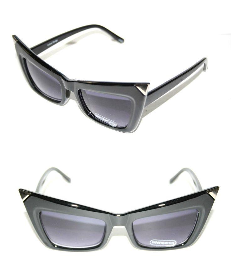 Classic RETRO 50s Vintage SUNGLASSES Sonnenbrille Blk Rockabilly 9PZ0Hq0Q5d