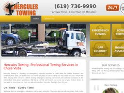 New Towing Companies added to CMac.ws. Hercules Towing in Chula Vista, CA - http://towing-companies.cmac.ws/hercules-towing/35682/