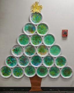 Klinkers in Beeld: Kerstboom maken met papieren bordjes (met beschrijving)