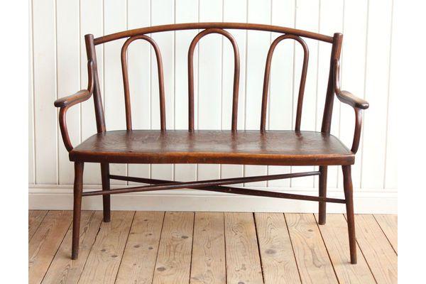 Vintage Antique Rare Thonet Bentwood Bench Chair | vinterior.co
