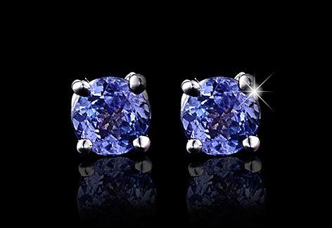 Solitaire tanzanite earrings