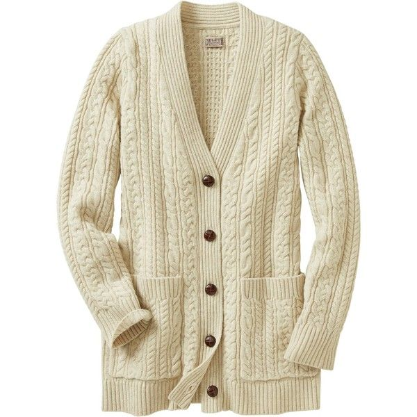 Women's Fisherman Long Cardigan Sweater (200 CAD) ❤ liked on Polyvore featuring tops, cardigans, cashmere tops, beige cardigan, beige top, cashmere cardigans and long cashmere cardigan