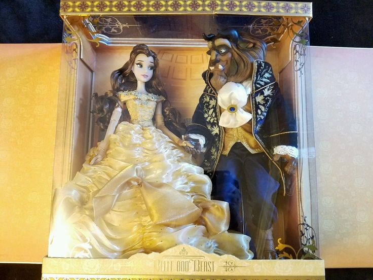 Disney Platinum Limited Edition Belle And The Beast Doll Set Le 500 Beast Doll
