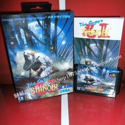 Sega карточных игр - супер Shinobi 2 с коробкой и руководство для Sega MegaDrive игровая консоль системы 16 бит MD карты