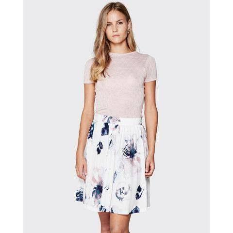 nederdel med blomsterprint fra Minimum