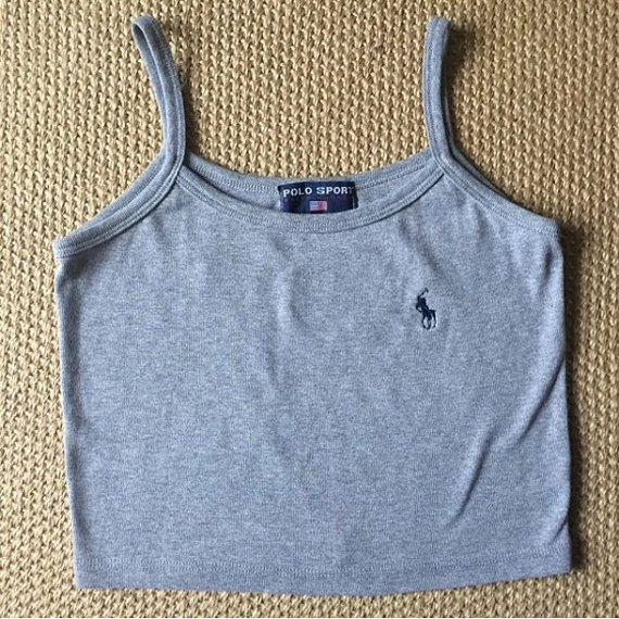 Ralph Lauren Polo Crop Top by DashBoutiqueShop on Etsy