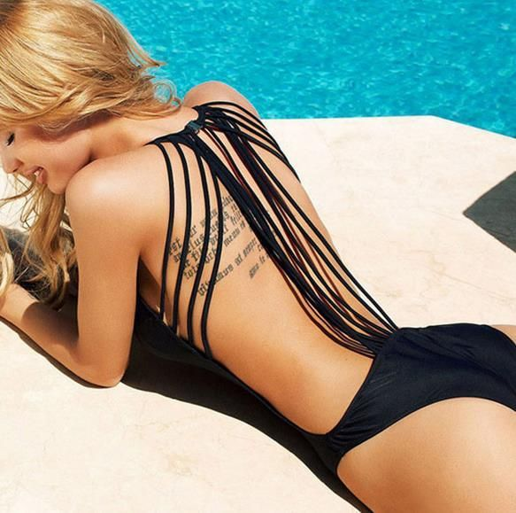 Zwemkleding - Retro one piece bikini - Een uniek product van Fashionmade op DaWanda