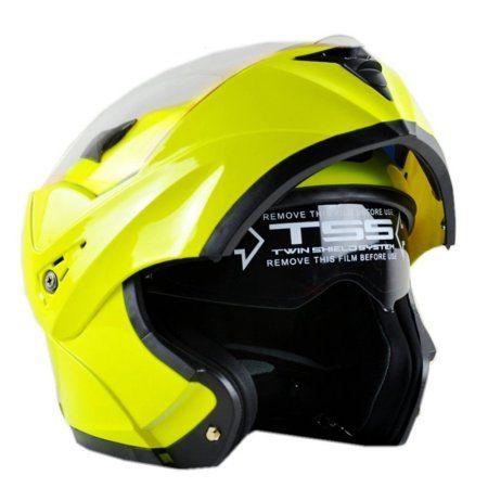 8420368f Helmets Motorcycle Dual Visor Flip up Modular Full Face Helmet DOT Approved  6 Colors