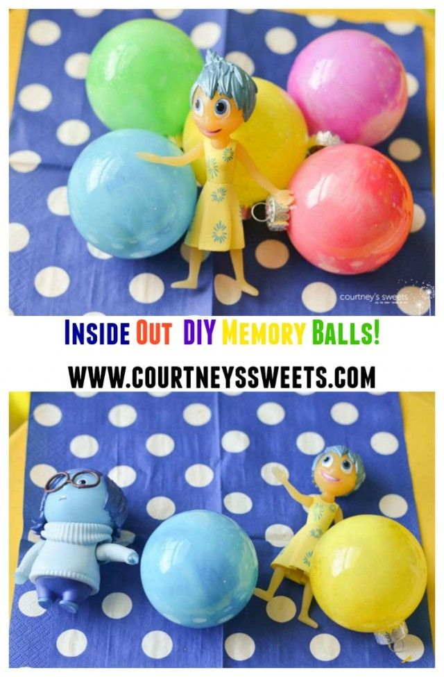 Inside Out Birthday Party Idea, Inside Out Toys, PLUS DIY Inside Out Memory Balls! #InsideOutEmotions #ad