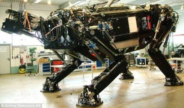 Meet the world's largest robot! The largest walking robot measures 15.72 m (51 ft 6 in) in length, 12.33 m (40 ft 5 in) in width, 8.20 m (26 ft 10 in) in height and was made by Zollner Elektronik AG (Germany) in Zandt, Germany. [Future Robots: http://appstore/iotmonitor