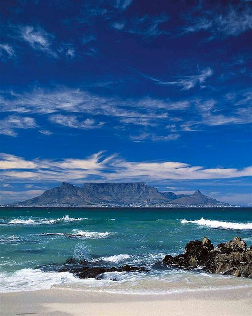 Table Mountain --- snapped from Blouberg beach.