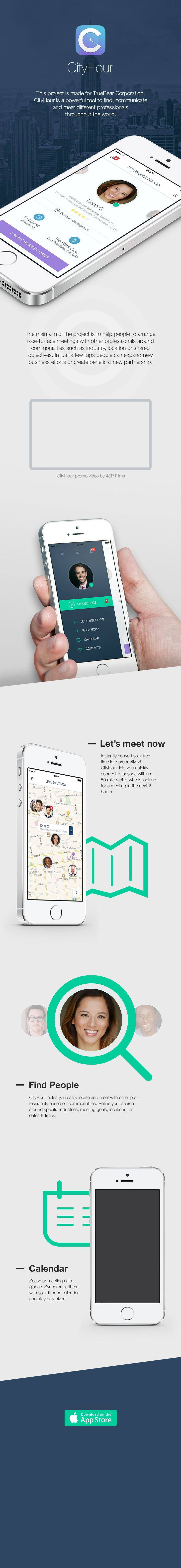 Mobile App Design Inspiration – CityHour (available free on App Store)