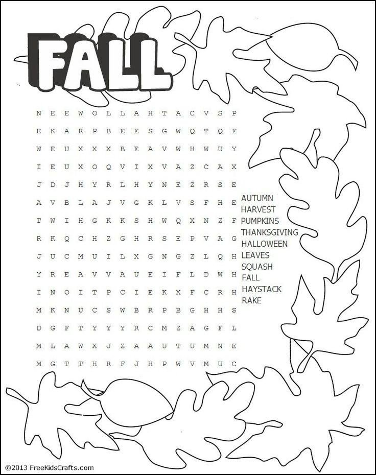 It is a graphic of Witty Fall Word Searches Printable