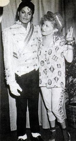 Michael Jackson and Cyndi Lauper