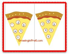 Free Printable Pizza Number Bingo- also use for reinforcer sheets, earned fun activity, mystery motivators.