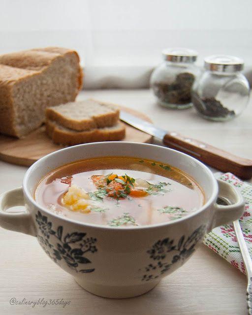Кулинарный блог 365 дней: Куриный суп c цветной капустой