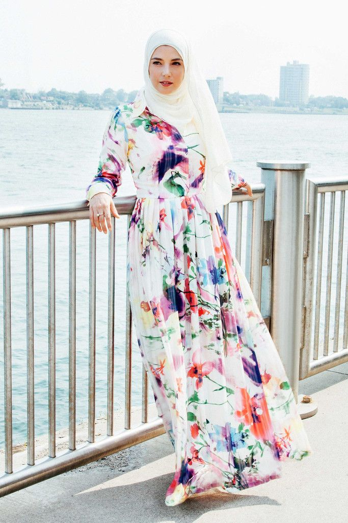 Mayya Maxi Dress - Brushstroke