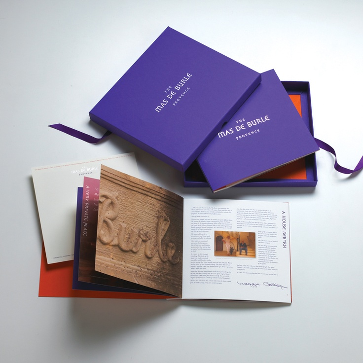 Marketing pack for five star holiday accommodation in Provence, France