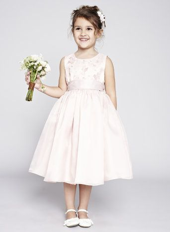 Isabelle Blush Flower Girl Dress BHS lovely full skirt and butterfly details