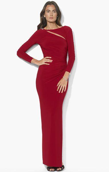 Lauren Ralph Lauren 'Eldera' Matte Jersey Dress (Regular & Petite)  available at of the bride dress for patti