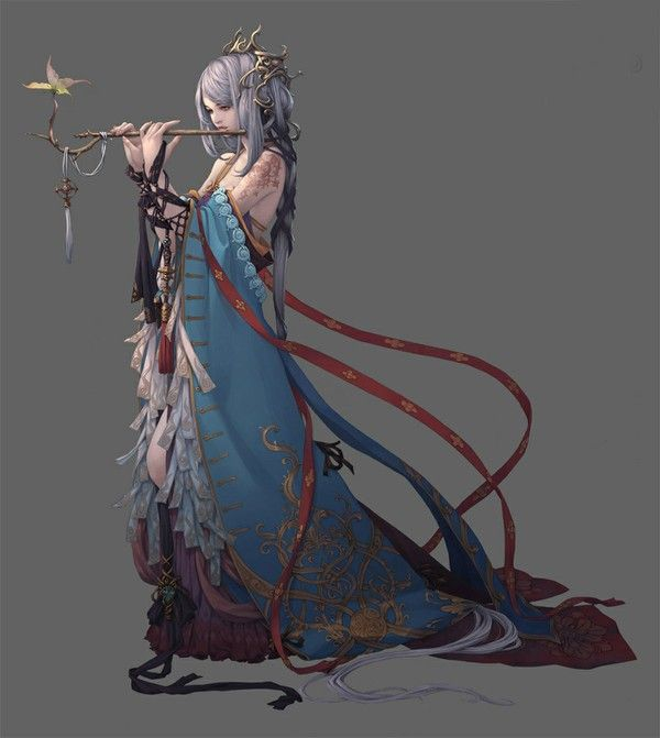 Found this on what I think is a Chinese version of Pinterest.  Not sure where to attribute the original art, but it's beautiful.