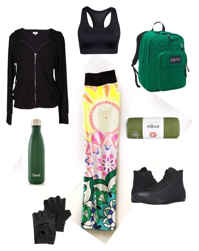 """Mandalove"" by tomazarango on Polyvore featuring moda, Casall, Velvet by Graham & Spencer, JanSport, S'well, Manduka, Converse y H&M"
