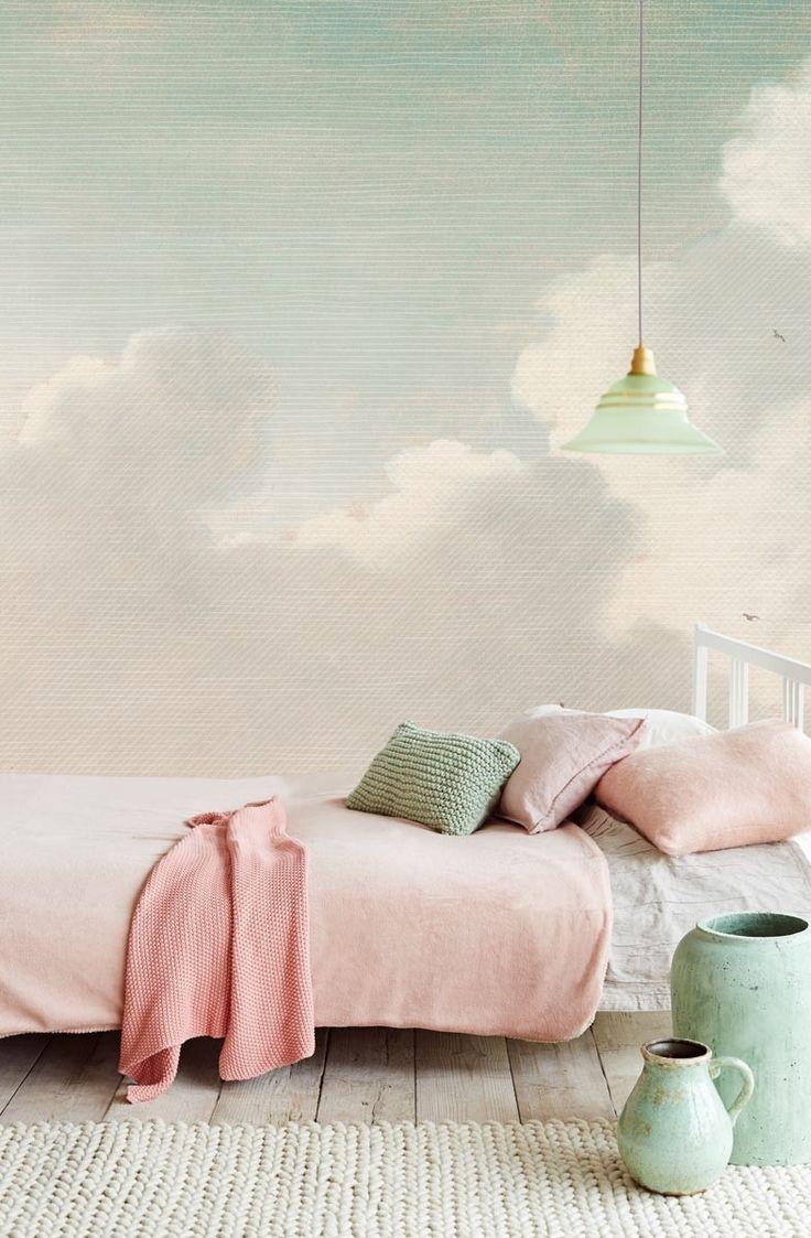 Eijffinger Masterpiece Dutch Sky Stripes Jade 358121 at Wallpaperwebstore