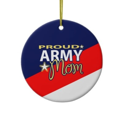 Proud Army Mom Ornament that you can customize with your Soldier's picture!