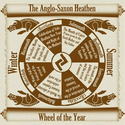 Wheel of the year, Anglo Saxon stylee | Flickr - Photo Sharing!