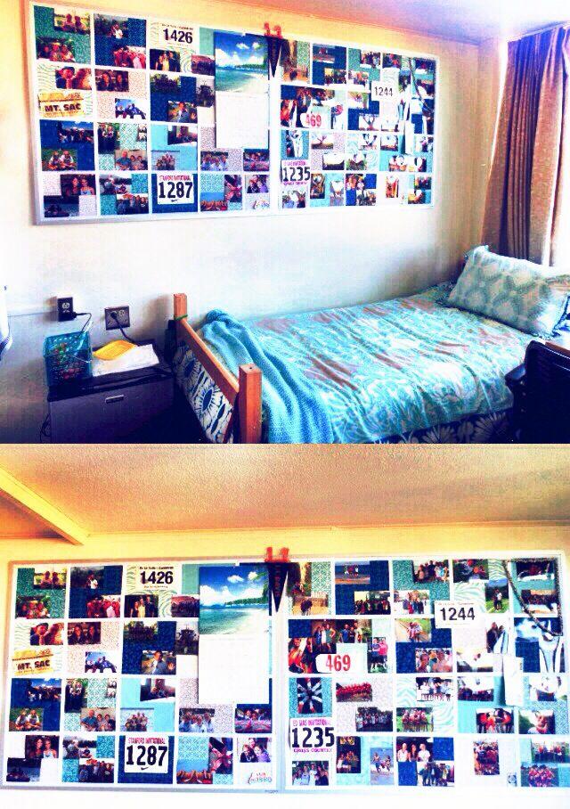 My Sister Meghanu0027s Dorm Room At UC Davis; Fabric Covered Bullitinboard. Part 47